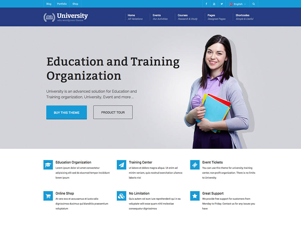 education WordPress theme 5