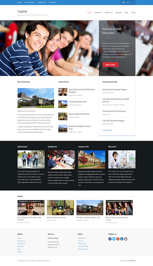 education WordPress theme 2
