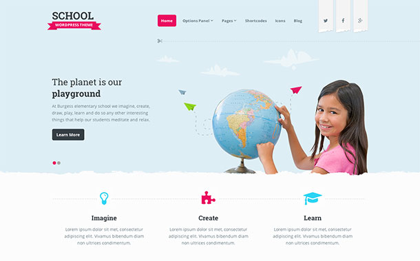education WordPress theme 3