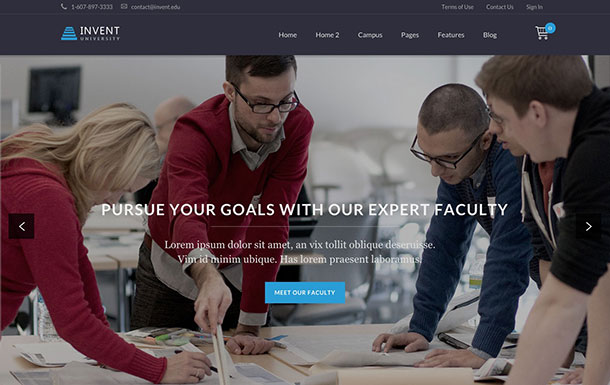 education WordPress theme 7