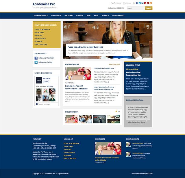 education WordPress theme 8