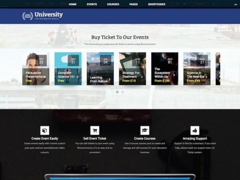 university WordPress theme featured