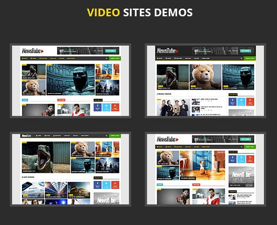 NewsTube wordpress video themes responsive 2