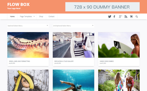 Material Design WordPress Themes for videos