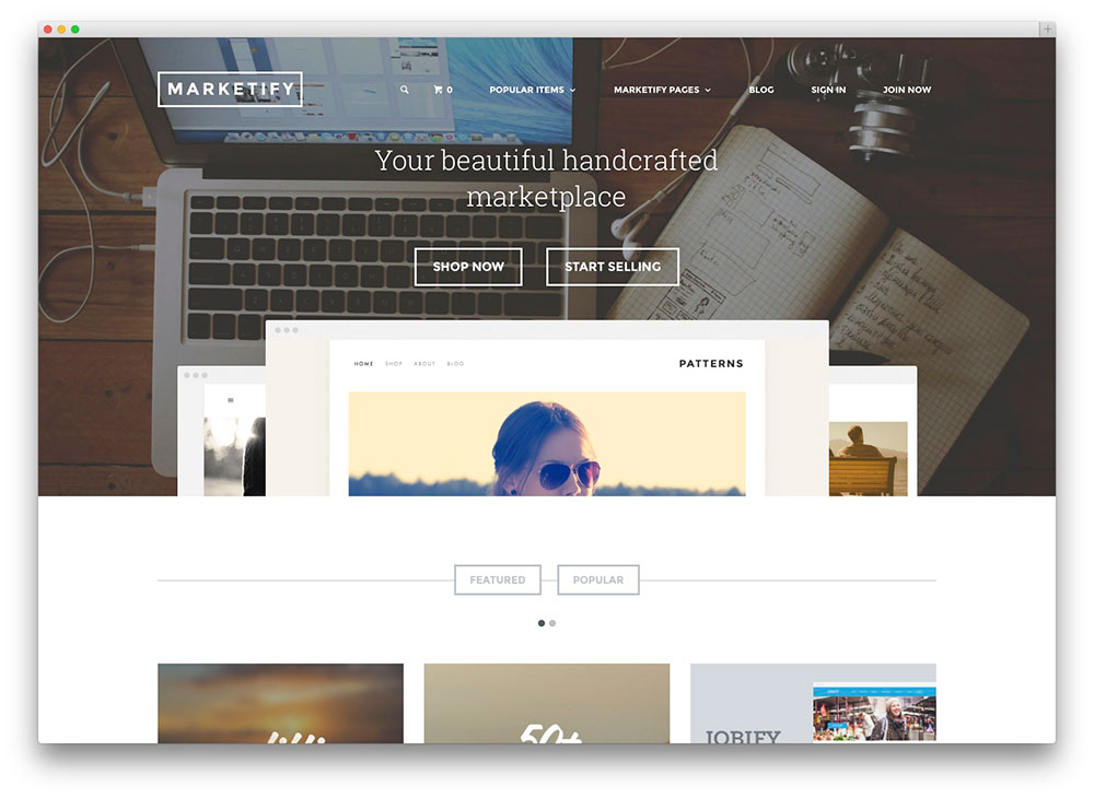 WordPress video blog themes for selling multimedia products