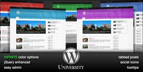 university WordPress theme 1