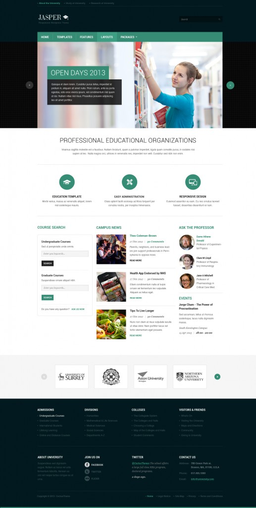 Jasper - Educational Theme for university and colleages