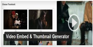 Video Embed Thumbnail Generator