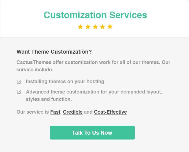 Cactusthemes customization service banner