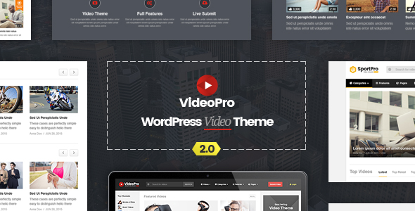 best video wordpress theme -videopro